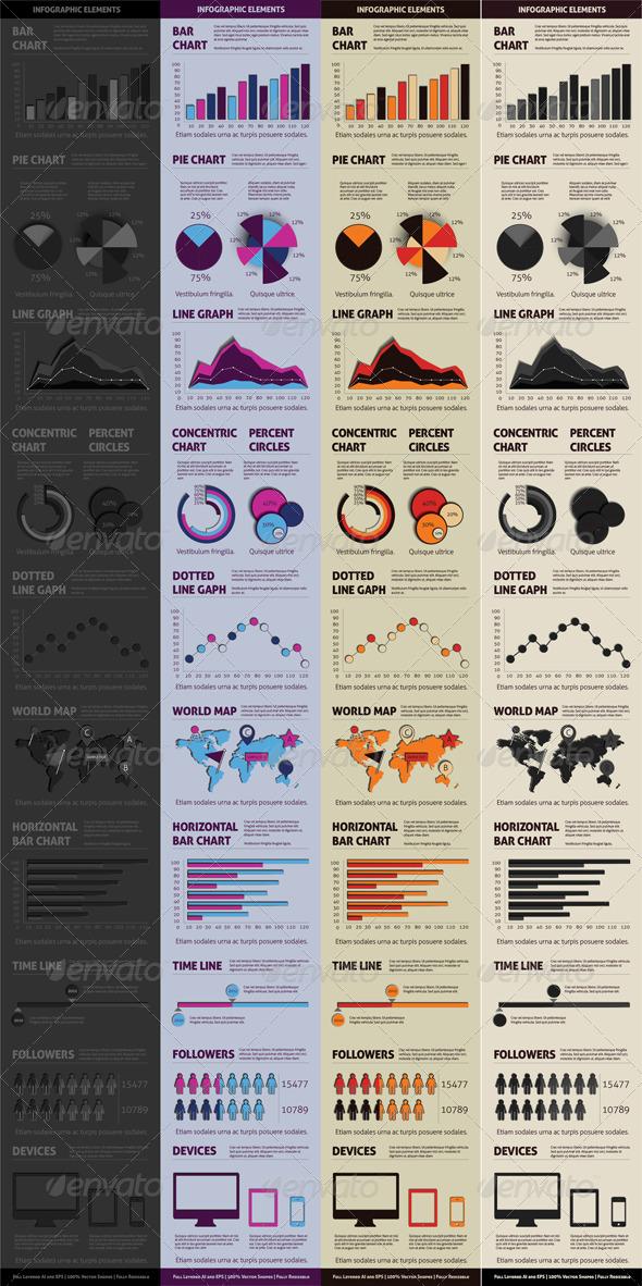 GraphicRiver Black Infographic Elements 4893827