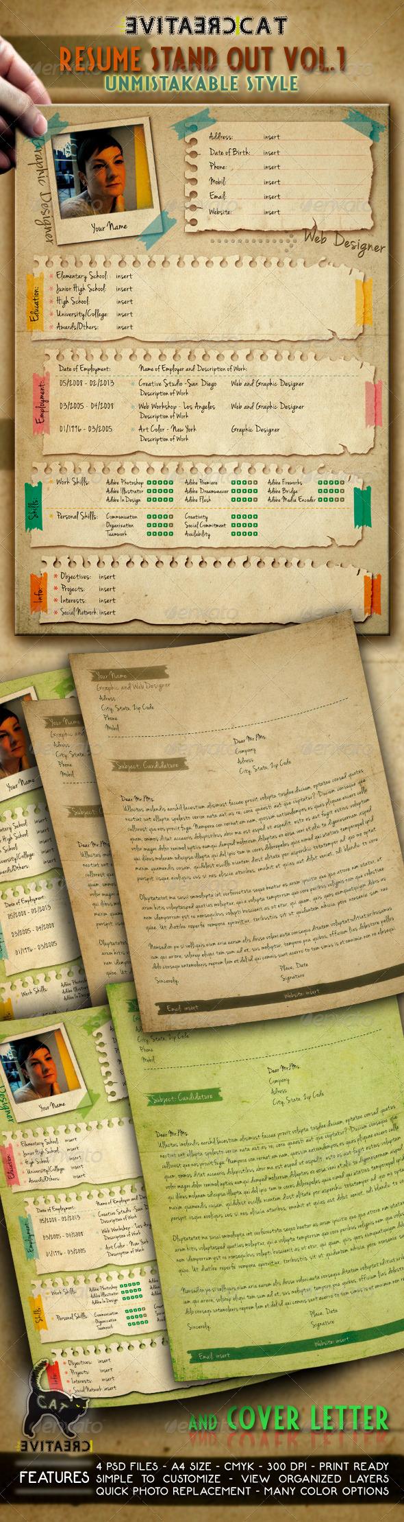 GraphicRiver Resume CV & Cover Letter Vol.1 5037665