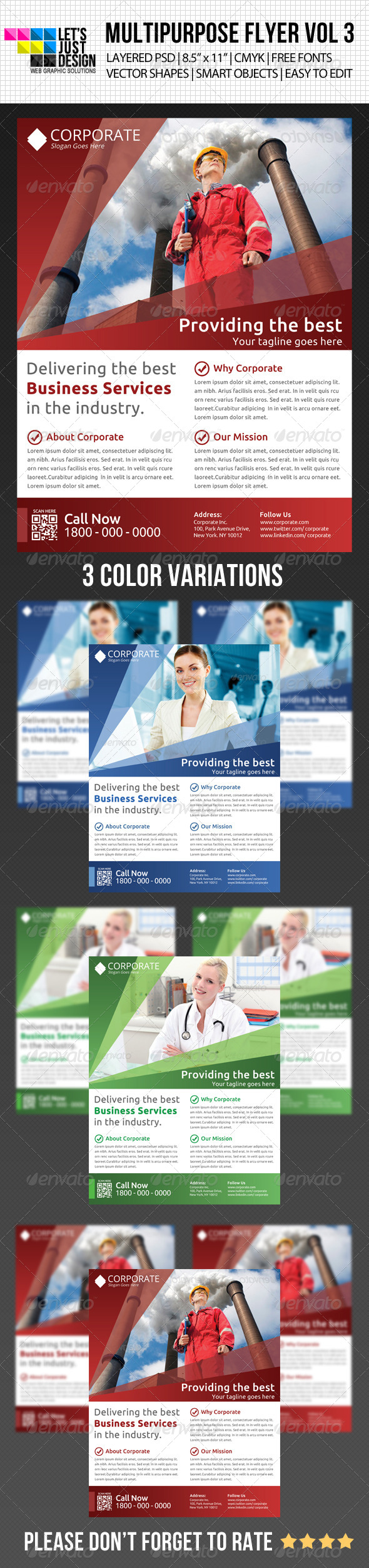 GraphicRiver Multipurpose Flyer Template Vol 3 5037816