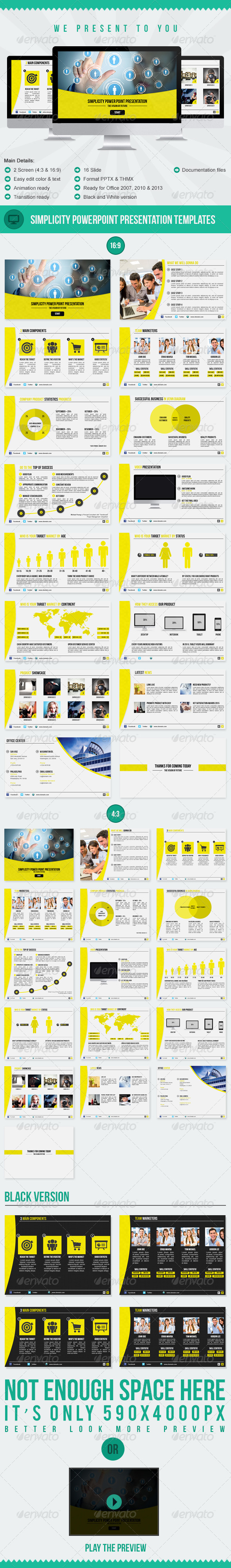 GraphicRiver Simplicity PowerPoint Presentation Templates 5037938
