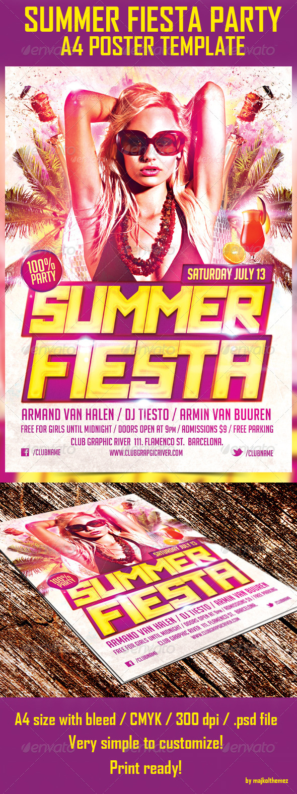 GraphicRiver Summer Fiesta Party Poster Template 5037975