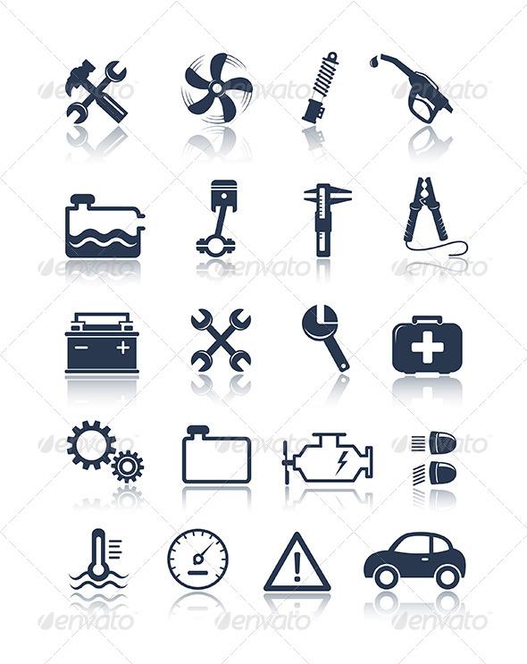 GraphicRiver Auto Service Icons 5038472