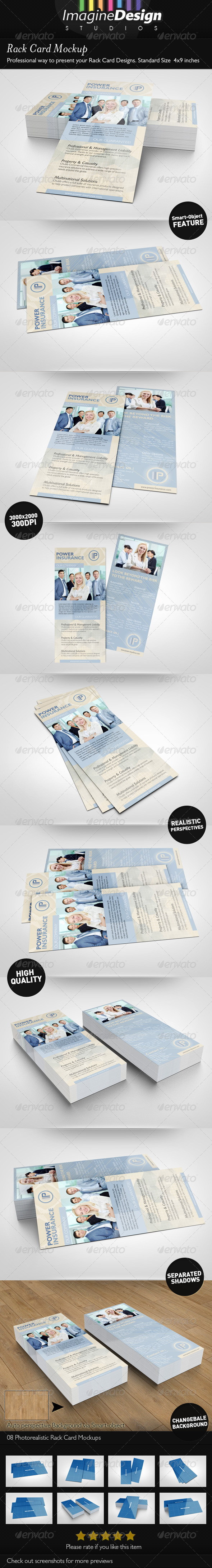 Rack Card Mockup - Miscellaneous Print