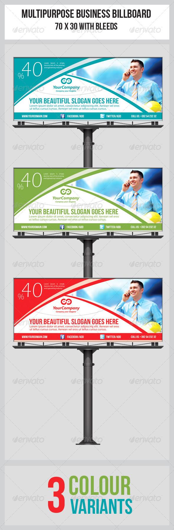 GraphicRiver Multipurpose Business Billboard Template 5038827