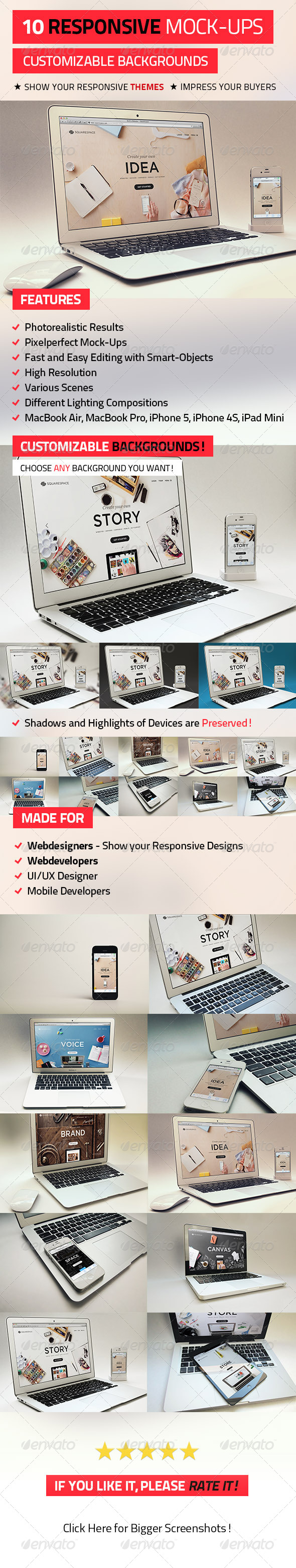 GraphicRiver 10 Responsive Mock-Ups 5039011