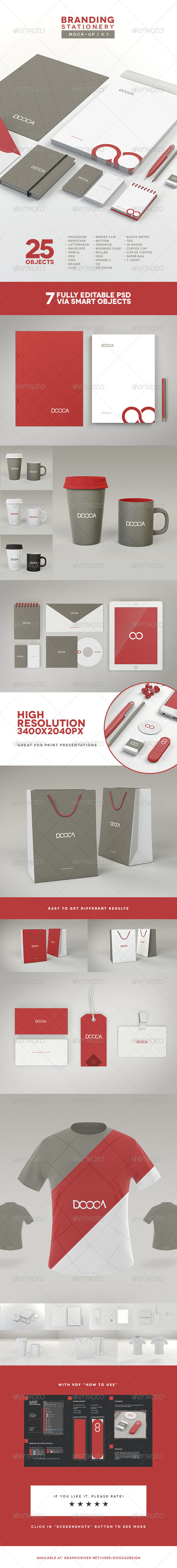 Branding / Stationery Mock-up - Stationery Print