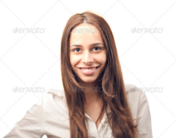 woman smiling - Stock Photo - Images