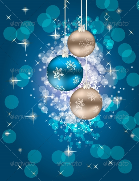 GraphicRiver Abstract Christmas and New Year Background 5039349