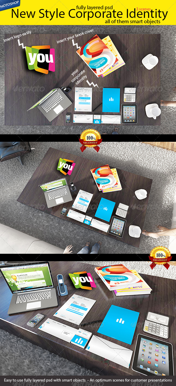 GraphicRiver New Style Branding Stationery Mock-up 5039354