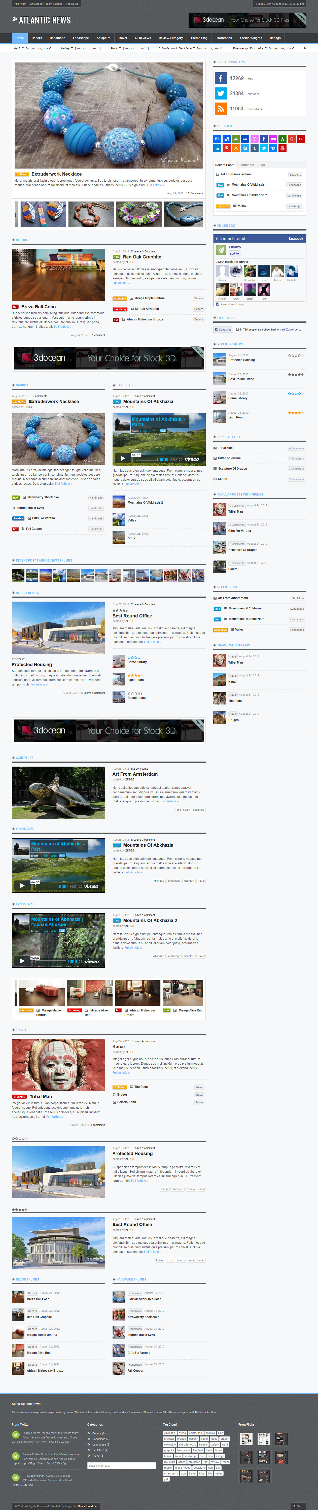 Atlantic News - Responsive WordPress Magazine Blog - Home Page