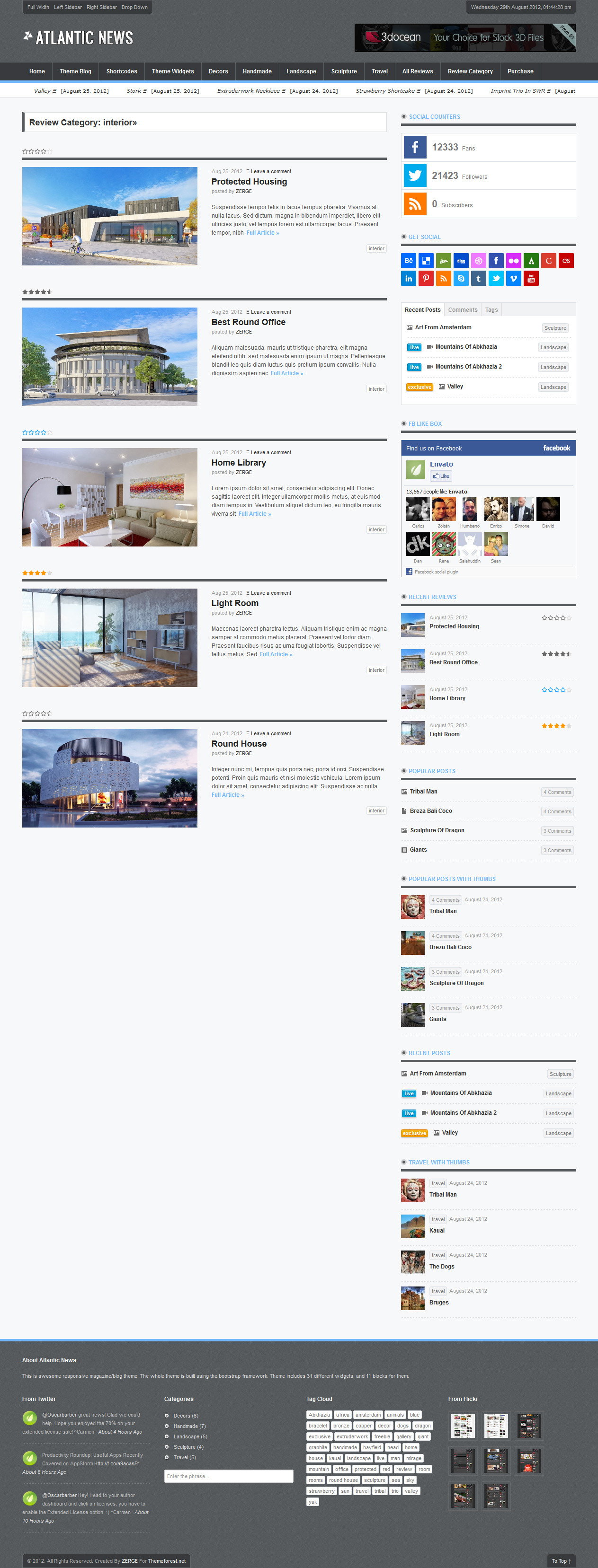 Atlantic News - Responsive WordPress Magazine Blog - 05_Review_Category