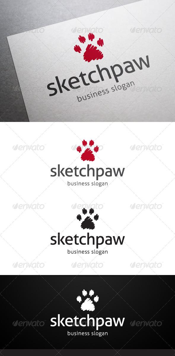 Sketch Paw Logo