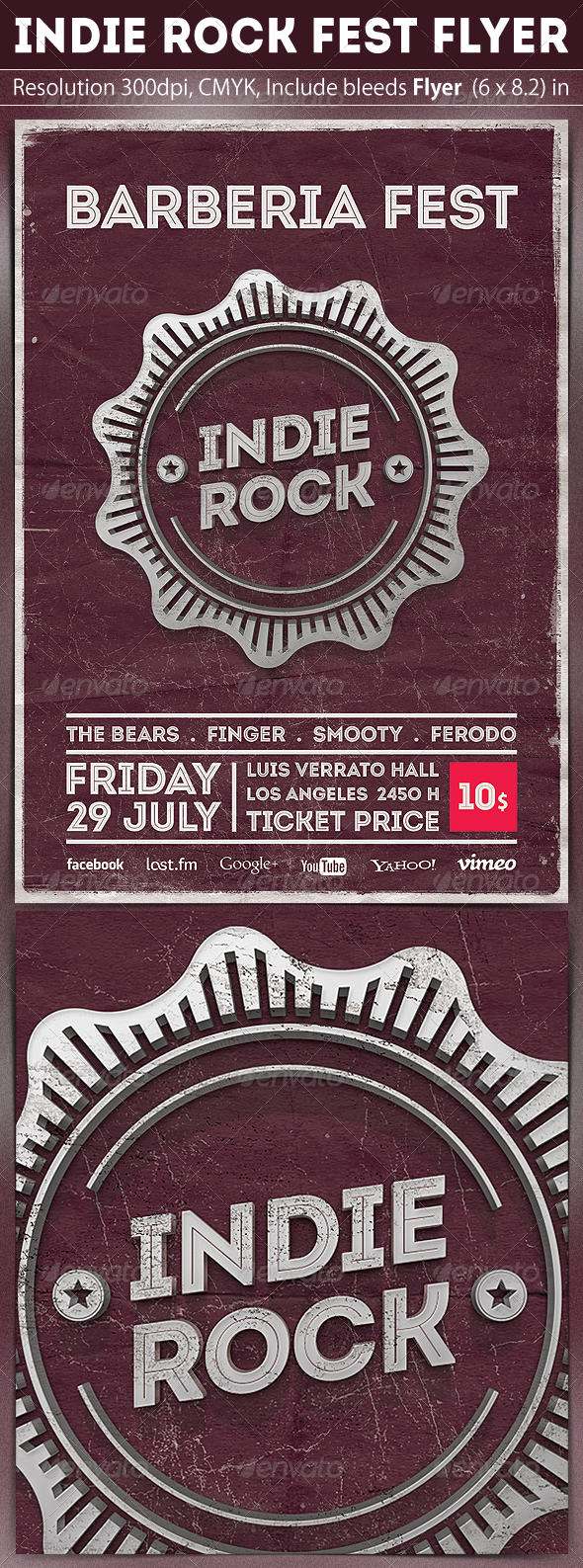 GraphicRiver Indie Rock Flyer Template 5039433