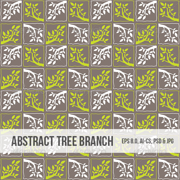 GraphicRiver Seamless Abstract Tree Branch Pattern 5039436