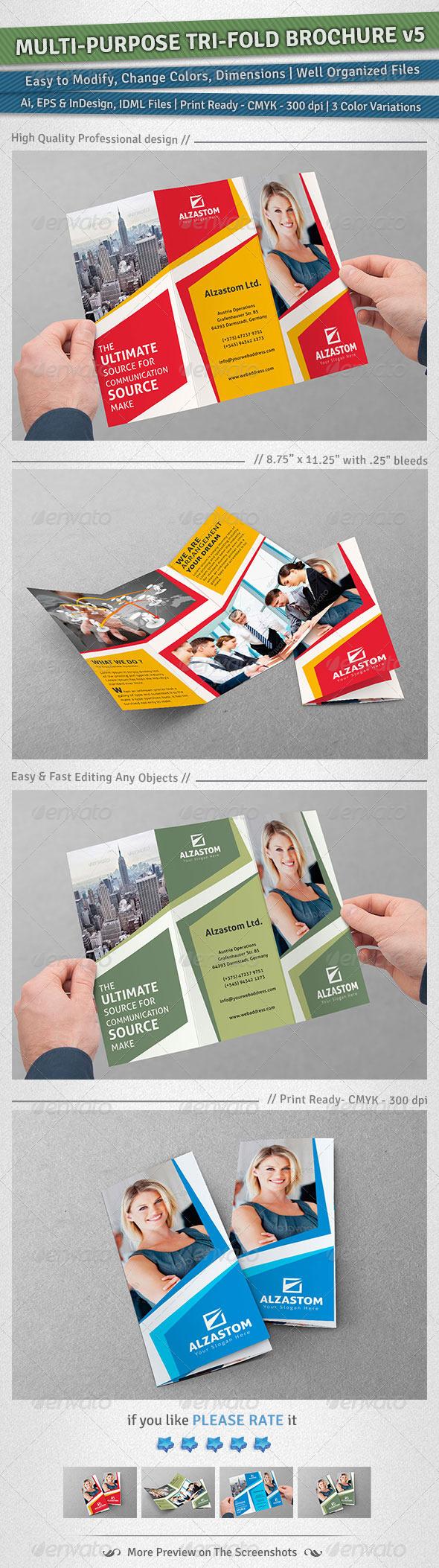 GraphicRiver Multi-purpose Tri-Fold Brochure Volume 5 5039473
