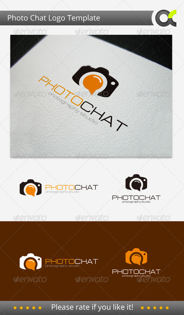 Photo Chat Logo Template