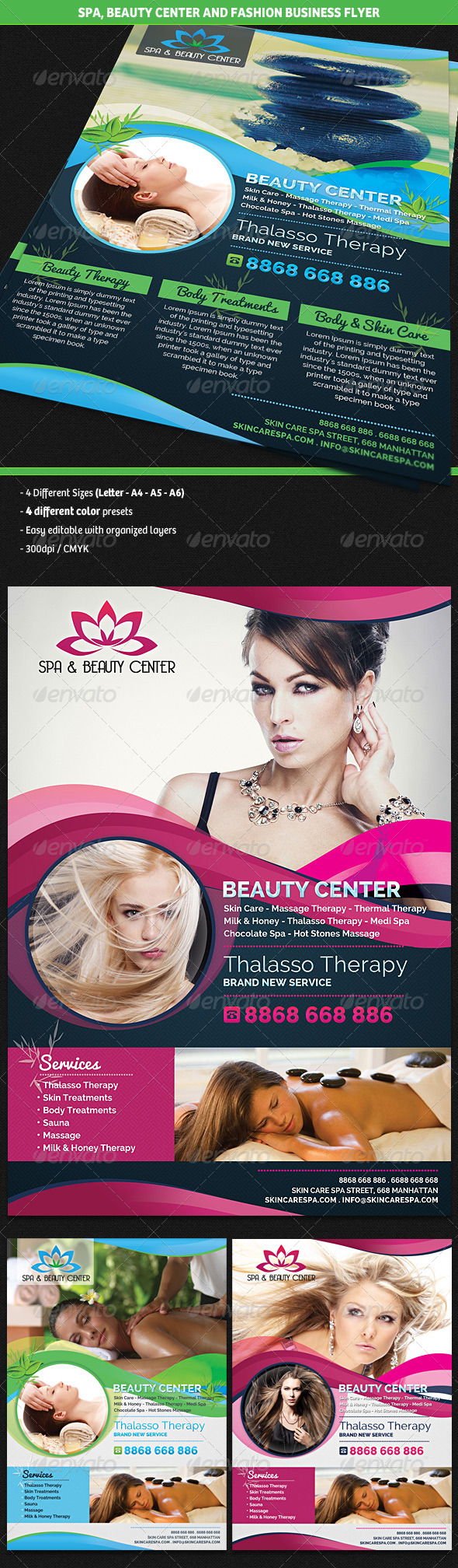 GraphicRiver Spa & Beauty Fashion Center Business Flyer 4963947