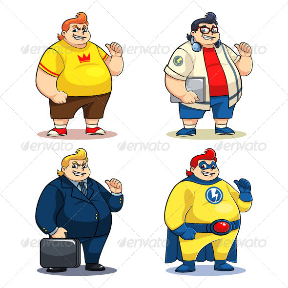 Mr Bigger Characters - Characters Vectors
