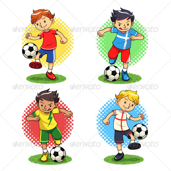 GraphicRiver Soccer Boys 5039524