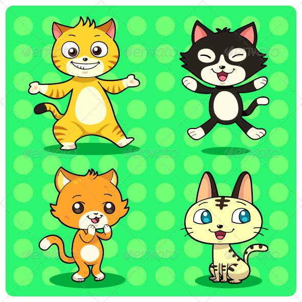 GraphicRiver Cats 5039534