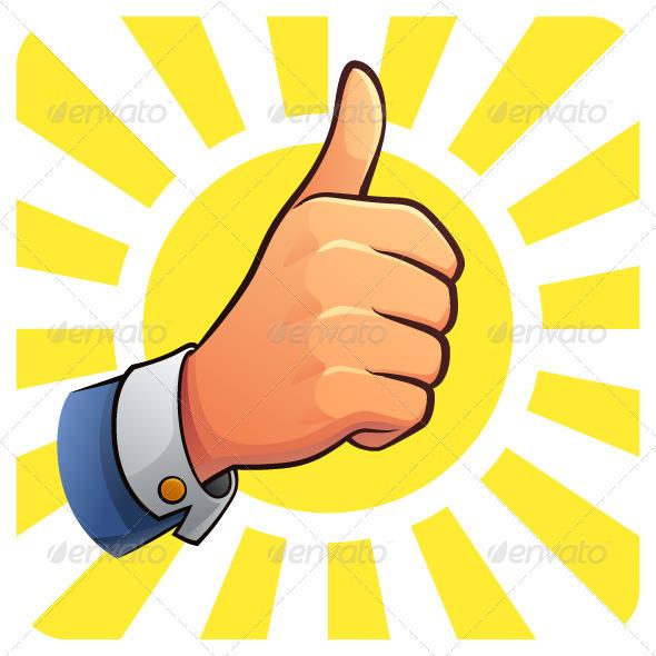 Thumb Up of Success