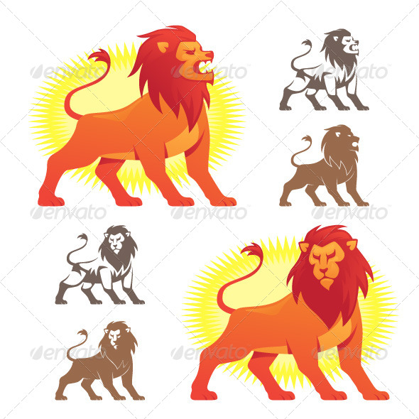 GraphicRiver Lion Symbols 5039645