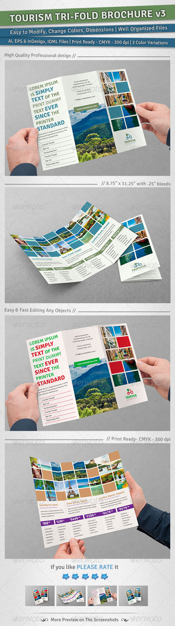 GraphicRiver Tourism Tri-Fold Brochure Volume 3 5039770