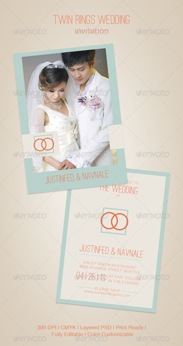 GraphicRiver Twin Rings Wedding 5039775