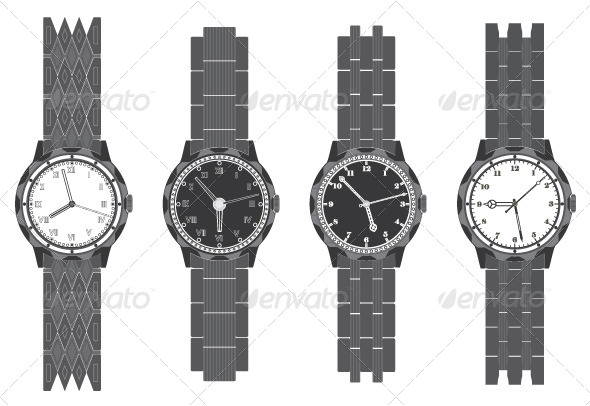 GraphicRiver Wristwatch Set 5039881