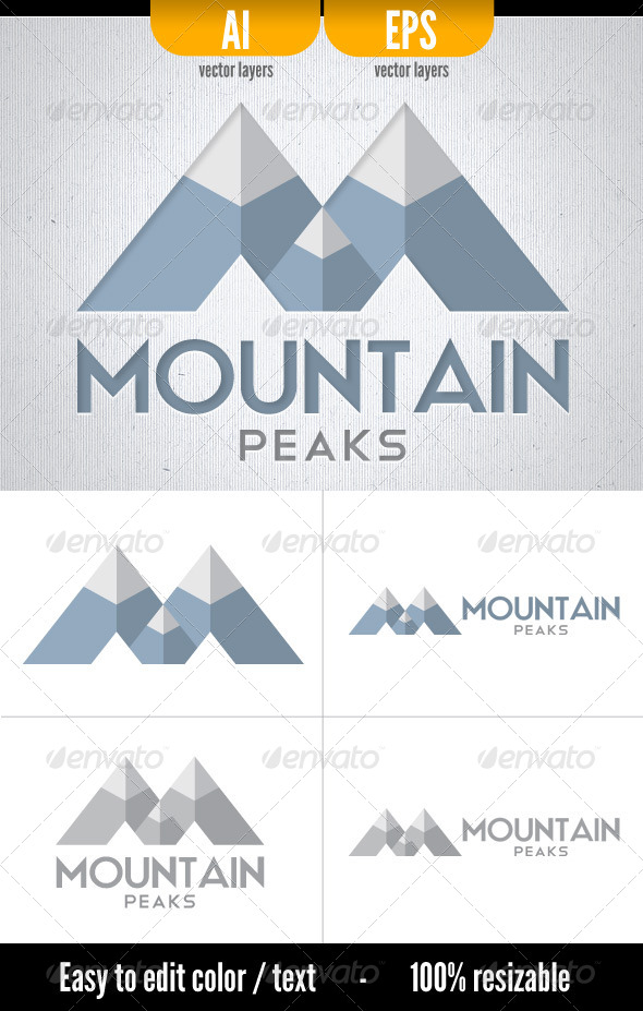 GraphicRiver Mountain Peaks 5039975
