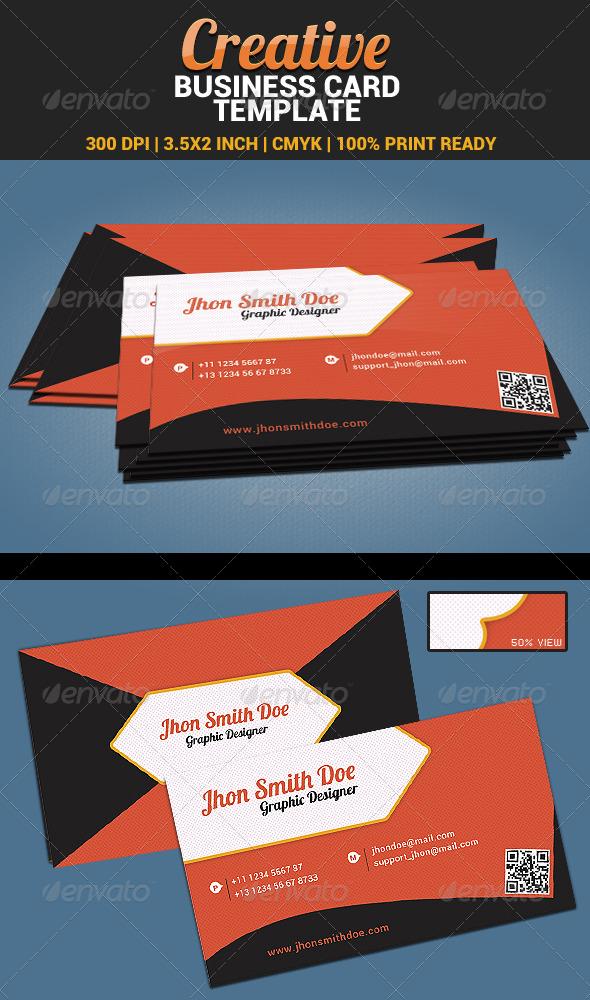 GraphicRiver Creative Orange Business Card Template 09 5040167