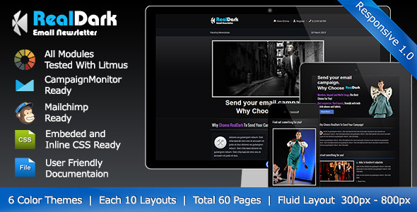 ThemeForest RealDark Responsive Email Template 5039389