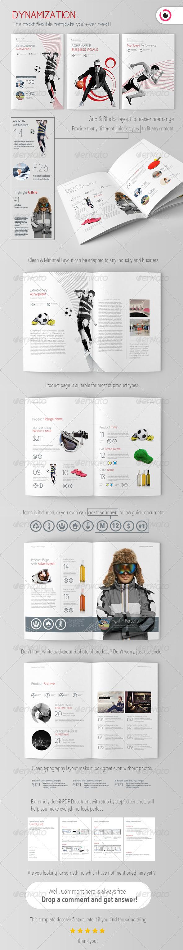 GraphicRiver Dynamization Brochure Catalogue Template 5040446