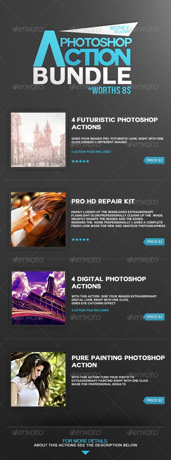 GraphicRiver Photoshop Action Bundle 5040504