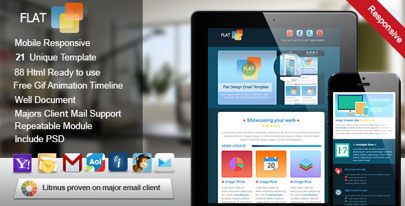 ThemeForest Flat Responsive Email Template 5040666
