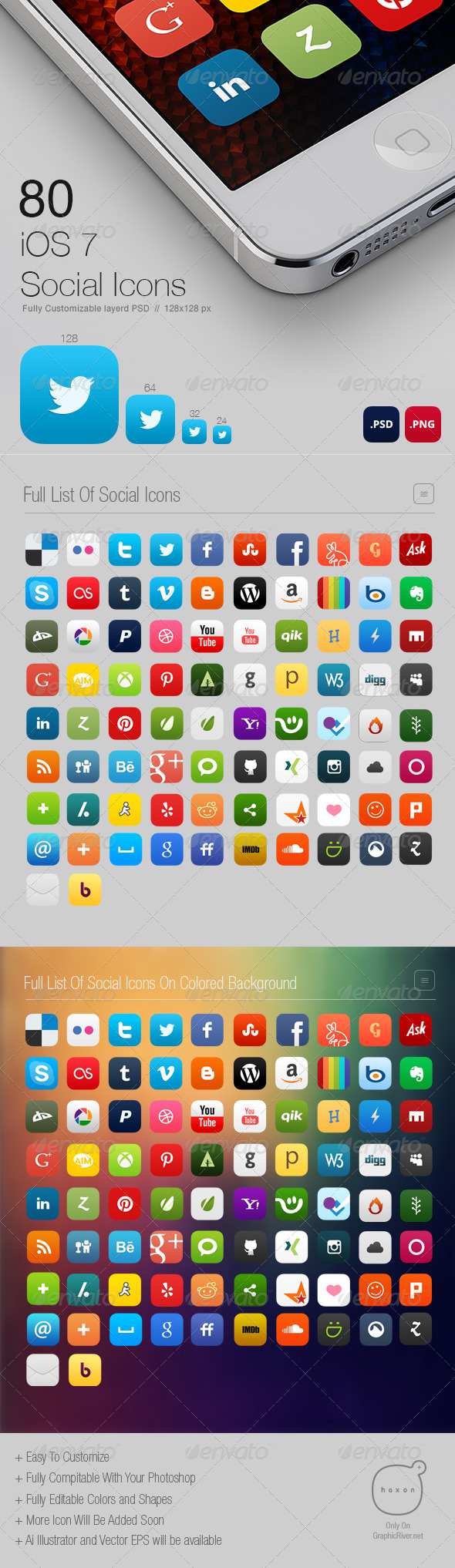 GraphicRiver 80 Social Icons iOS7 Style 5001972