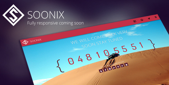 Soonix | Responsive Coming Soon Template (Under Construction) images