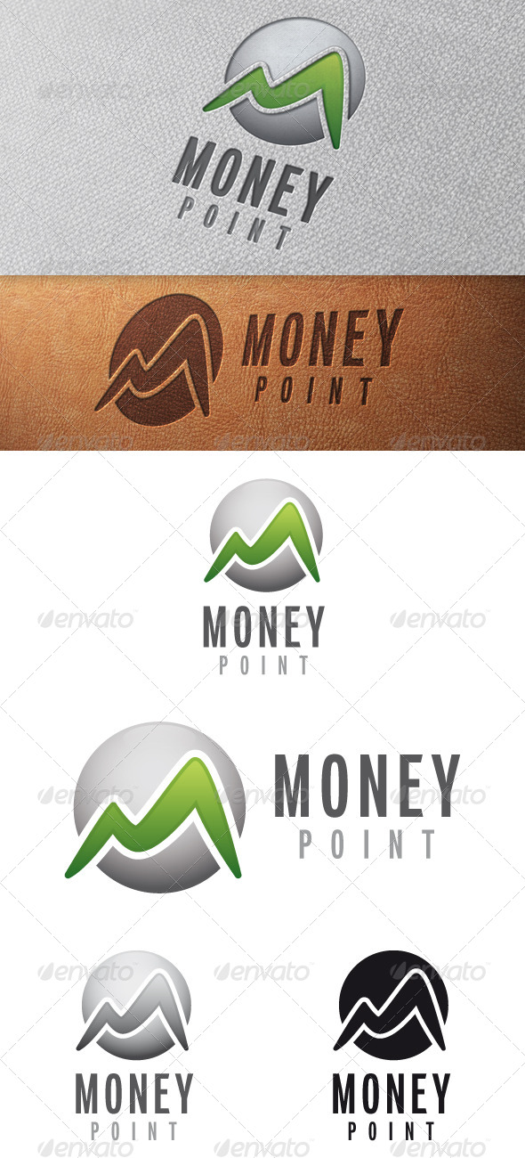 GraphicRiver Money M Letter Logo Template 5041296