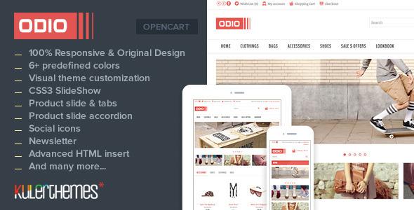 ThemeForest Odio Premium OpenCart Theme for Fashion Stores 4988224