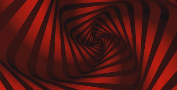 Retro Zebra Square Red