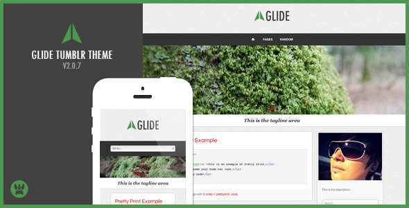 Glide - A Responsive Tumblr Theme - Blog Tumblr