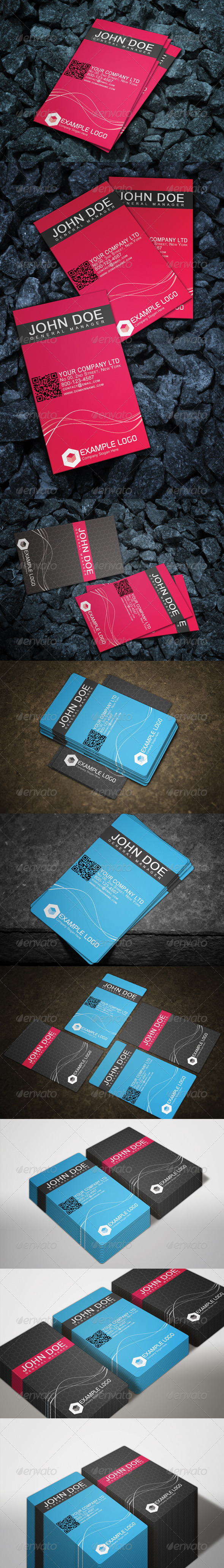 Photorealistic Business Card Mock-Up Bundle 1 - Business Cards Print