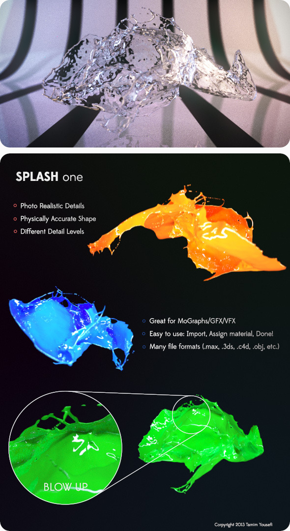 3DOcean Photo Realistic Water Paint Splash 5042248