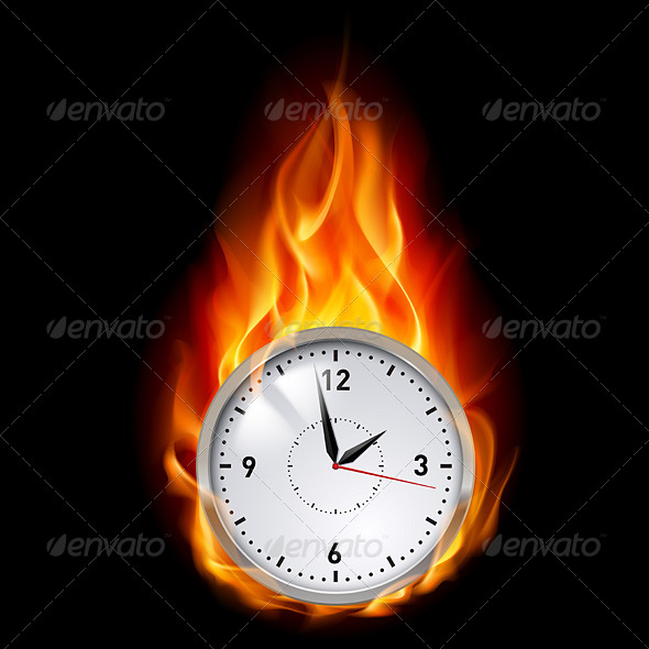 GraphicRiver Clock in Fire 5042732