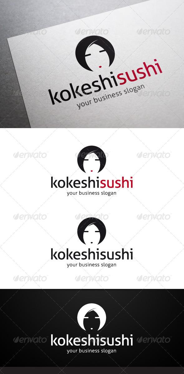 GraphicRiver Kokeshi Sushi Logo 5042956