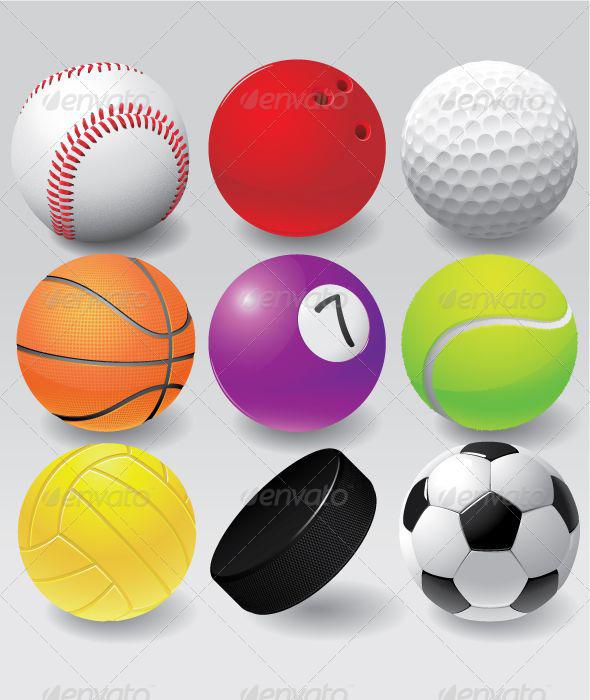 GraphicRiver Colorful Sport Balls Set 5042957