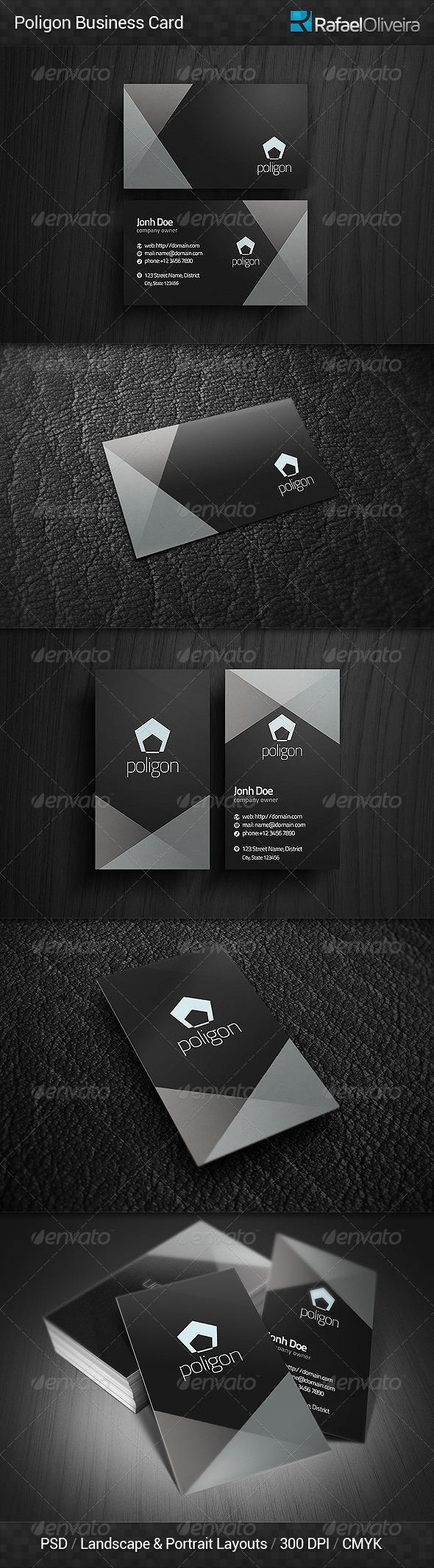 GraphicRiver Poligon Business Card 5043206