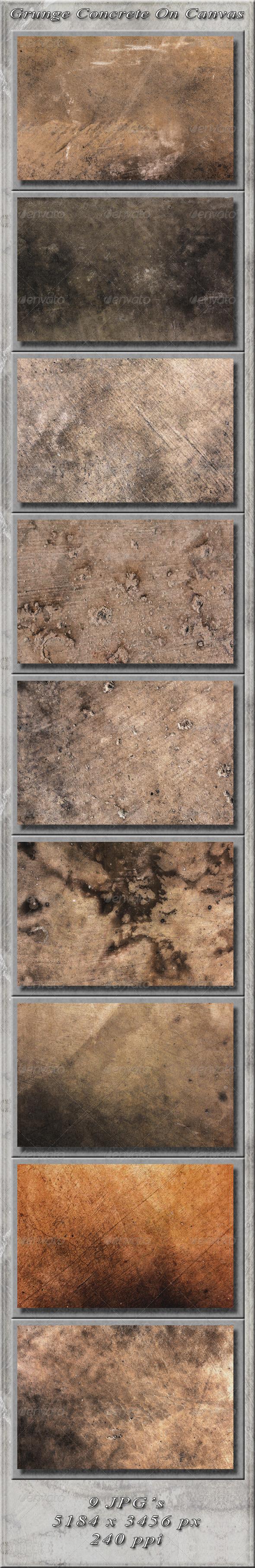 GraphicRiver Grunge Concrete On Canvas 5009705