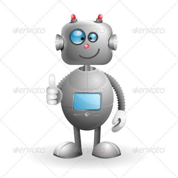 GraphicRiver Cartoon Robot 5044424