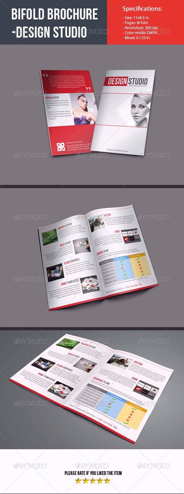 GraphicRiver Bifold Brochure For Design Studio 4977737
